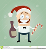 Funny Christmas Party Clipart Image
