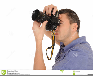 Clipart Photographer Taking Picture Image