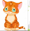Free Cartoon Cat Food Clipart Image
