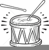 Drum Clipart Black And White Image