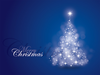 Blue Christmas Card Image