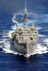 An Aerial Photo Of The Amphibious Transport Ship Uss Dubuque (lpd 8) Image