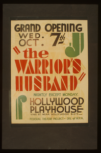 The Warrior S Husband  Nightly Except Monday : Hollywood Playhouse. Image