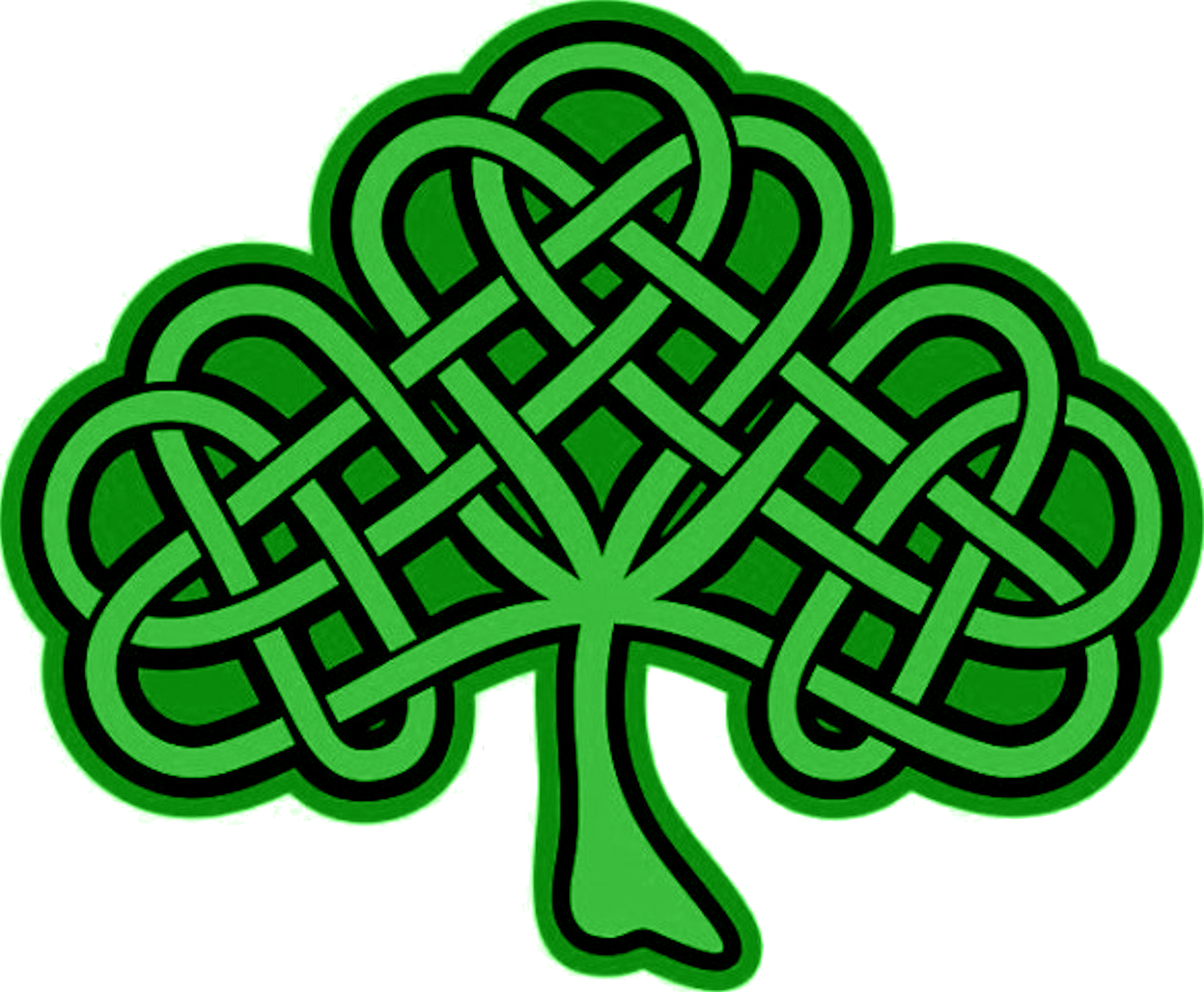 Celtic Cross With Shamrock Celtic cross with shamrock