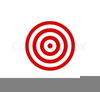 Red And White Target Clipart Image