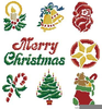 Christmas Motifs Clipart Image