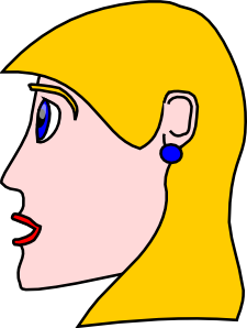 Head Lady Woman Blond Clip Art