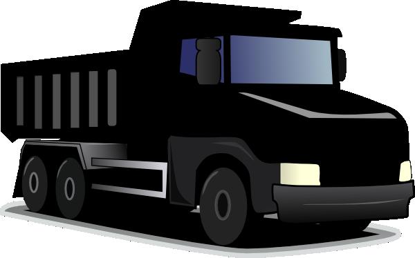 Black Dump Truck Clip Art at Clker.com - vector clip art ...