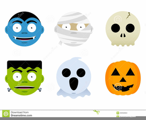 Cute Halloween Ghosts Clipart Image