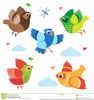 Flying Fish Cartoon Clipart Image