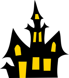 Free Haunted House Halloween Vector Clipart Illustration Image