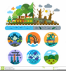 Polluted Environment Clipart Image