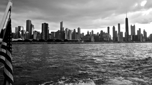 Chicago Usa B W X Image