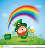 Leprechaun With Pot Of Gold Clipart Image