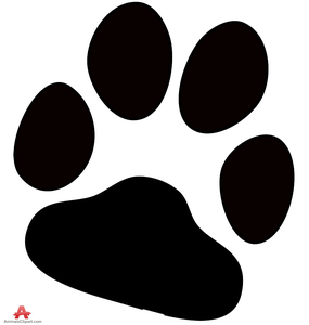 free dog paw print clipart free images at clker com vector clip rh clker com dog paw print clip art free lion paw print clip art free