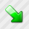 Icon Arrow Down Right Green 3 Image