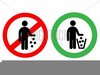 People Littering Clipart Image
