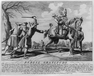 Rebell Gratitude, Or A Representation Of The Treachery And Barbarity Of Two Rebell Officers At The Battle Of Culloden...(which) Greatly Heightened The Slaughter That Was That Day Made Of Their Party...this Battle Was Fought 16 April 1746 Image