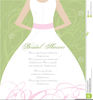 Couples Wedding Shower Clipart Image