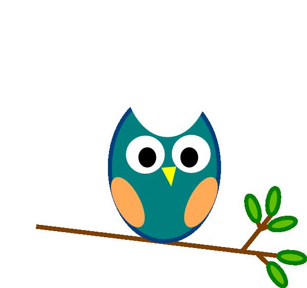 teal owl clip art at clker com vector clip art online royalty rh clker com Owl Family Clip Art Owl Border Clip Art