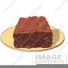 Clipart Chocolate Brownie Image