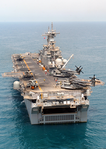 The Amphibious Assault Ship Uss Kearsarge (lhd 3) Conducting Combat Missions In Support Of Operation Iraqi Freedom. Image