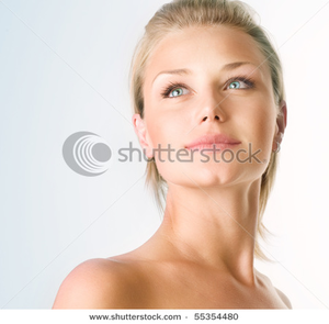 Stock Photo Beautiful Girl Face Perfect Skin Concept Image