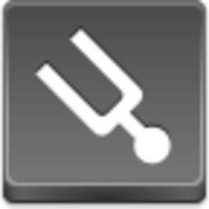 Free Grey Button Icons Tuning Fork Image