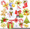 Free Clipart Christmas Holly And Ribbon Image