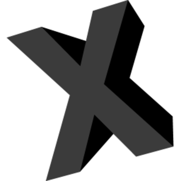 Letter X Icon | Free Images at Clker.com - vector clip art online ...