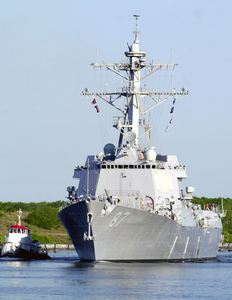 On April 12, 2003 The Navy Commissioned Its Newest Guided Missile Destroyer Uss Mason (ddg 87). Image