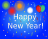 Happy New Year Party Scene Clip Art