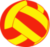 Red And Yellow Volleyball Clip Art