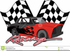Car Racing Flags Clipart Image