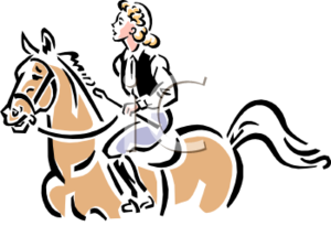 Vintage Equestrian English Style Clip Art Clipart Image Image