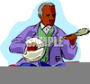 Animated Clipart Banjo Player Image