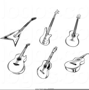 Pink Electric Guitar Clipart Image