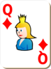 Queen Of Diamonds Clip Art