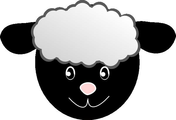 black happy sheep clip art at clker com vector clip art online rh clker com black and white sheep clipart baba black sheep clipart