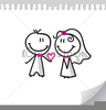 Free Wedding Couple Clipart Image