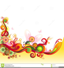 Floral Swirls Clipart Image