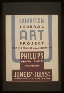 Exhibition - Federal Art Project Works Progress Administration [at The] Phillips Memorial Gallery Image