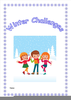 Playing In The Snow Clipart Image