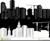 Black And White Building Clipart Image