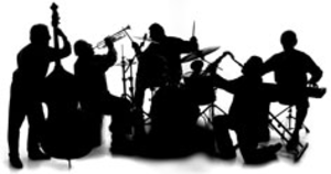 Red Hot Chillies Jazz Band Silhouette Image