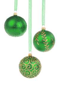 Green Christmas Baubles Qpt Image