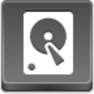 Free Grey Button Icons Hard Disk Image