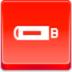 Free Red Button Icons Flash Drive Image