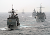 Uss Wasp (lhd 1) Expeditionary Strike Group Ships Underway. Image