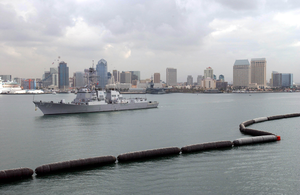 The Guided Missile Destroyer Uss Mccampbell (ddg 85) Departs Her Homeport Of San Diego, Calif. Image